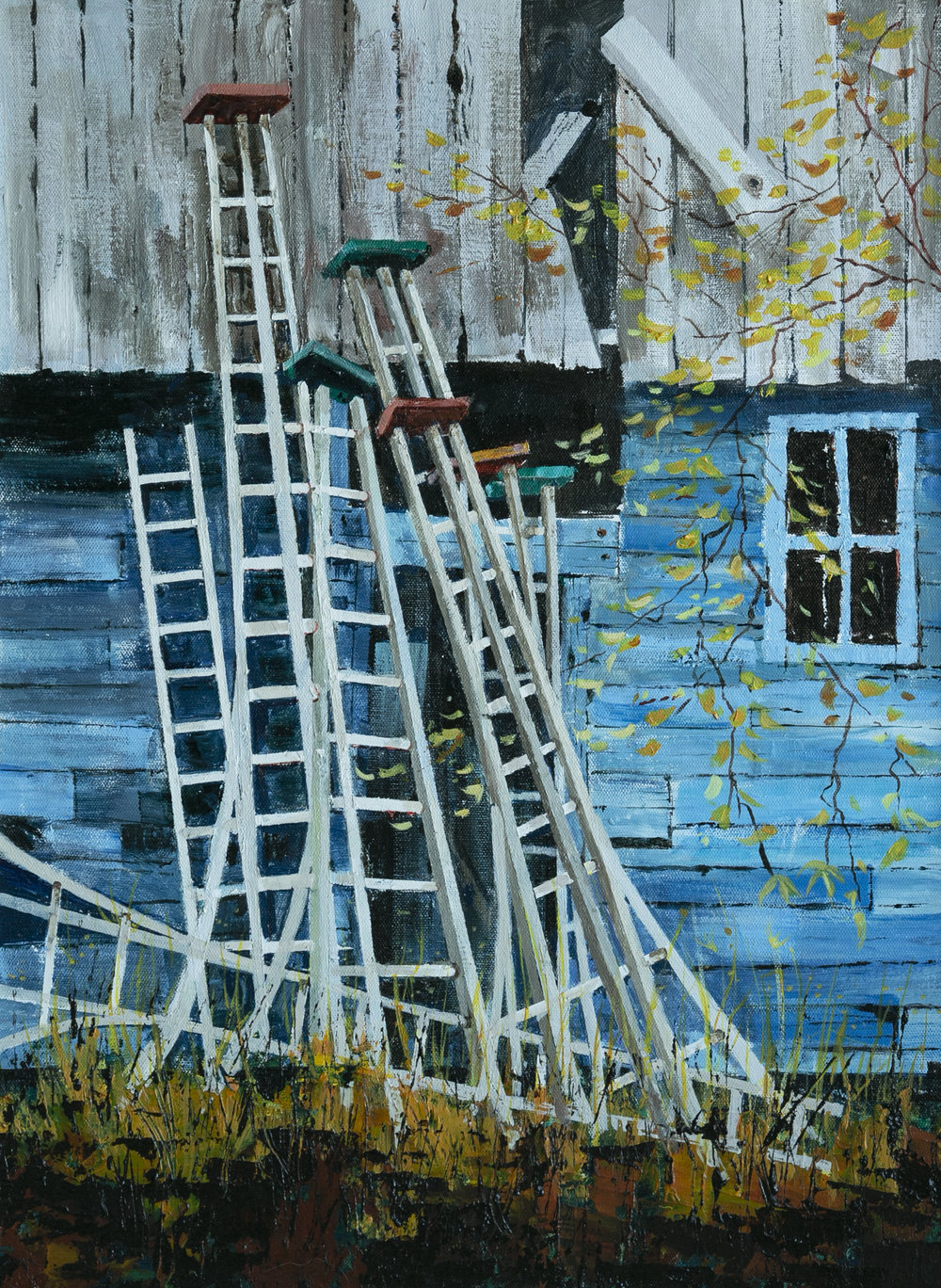 Orchard ladders in Summerland